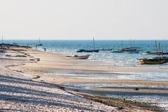 Strand i Vilanculos, Mocambique Arkivbilder