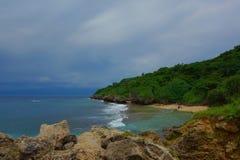 Strand i Xiao Liuqiu Island - Taiwan royaltyfri fotografi
