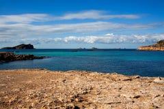 Strand in Ibiza lizenzfreies stockfoto