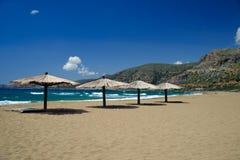 Strand im Agio Nikolaos lizenzfreie stockbilder