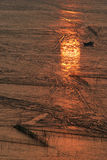 Strand im Sonnenaufgang Lizenzfreies Stockbild