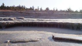 Strand im Winter stockfotografie