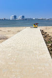 Strand improviserat datum Arkivbild