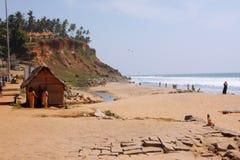 Strand in Indien Stockfotos