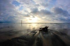 strand isolerad solnedgång Royaltyfri Foto