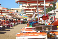 Strand in Italië Royalty-vrije Stock Afbeelding