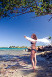strand jamaica royaltyfri fotografi