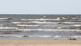 Strand in Jurmala stock footage