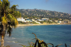 strand Kalifornien kyliga laguna ut Royaltyfria Foton
