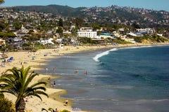 strand Kalifornien kyliga laguna ut Royaltyfria Bilder