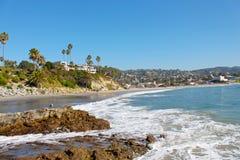 strand Kalifornien laguna Arkivfoto