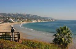strand Kalifornien laguna som ser södra Royaltyfria Foton