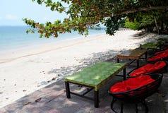 Strand in Kambodja Stock Afbeelding