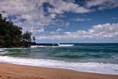 Strand Kauais, Hawaii Stockfoto