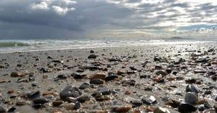 Strand-Kiesel Stockfoto