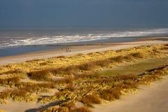 Strand in Knokke, België stock afbeelding