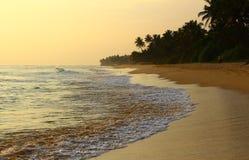 Strand Koggala, Sri Lanka Royaltyfri Foto