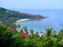 Strand in Koh Phangan, Thailand. Stock Foto's