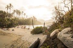 Strand in Kolumbien, Caribe stockbild