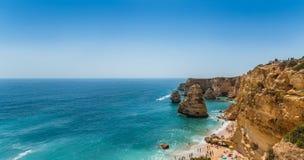 Strand in Lagoa, Algarve, Portugal Royalty-vrije Stock Afbeelding