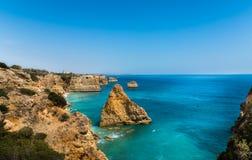 Strand in Lagoa, Algarve, Portugal Royalty-vrije Stock Foto