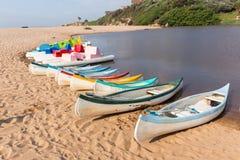 Strand-Lagunen-Paddel-Boote Stockbild