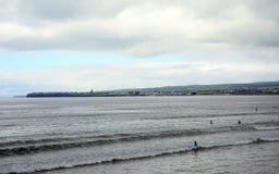 Strand Lahinch, Irland Arkivbild