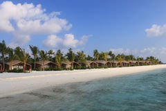 Strand-Landhäuser, Malediven stockfotografie