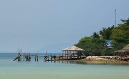 Strand-Landschaftsansicht lizenzfreie stockfotografie