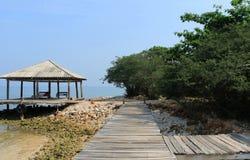 Strand-Landschaftsansicht stockfoto