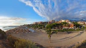 Strand Las Amerika in het eiland van Tenerife - Kanarie Stock Foto's