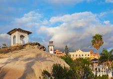 Strand Las Amerika in het eiland van Tenerife - Kanarie Spanje stock afbeeldingen