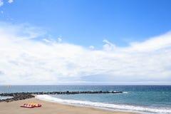 Strand in Las Amerika, Tenerife, Canarische Eilanden, Spanje Royalty-vrije Stock Afbeeldingen