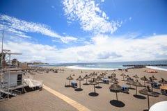 Strand in Las Amerika, Tenerife, Canarische Eilanden, Spanje Royalty-vrije Stock Fotografie