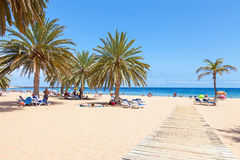 Strand Las Teresitas auf Teneriffa Lizenzfreie Stockbilder