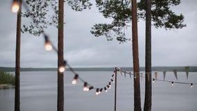 Strand of light outdoor stock video