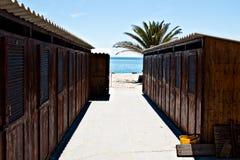 Strand, Ligurië, Italië Stock Afbeeldingen