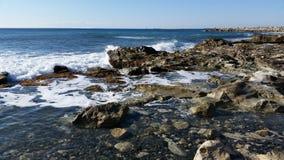 Strand in Limassol Amathounta Lizenzfreie Stockfotografie