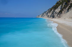 Strand, Llefkada, Griekenland Royalty-vrije Stock Foto