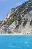 Strand, Llefkada, Griekenland Royalty-vrije Stock Afbeelding