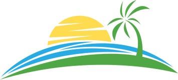 Strand-Logo Stockbild