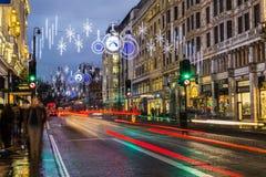 Strand in London at Christmas Royalty Free Stock Photos