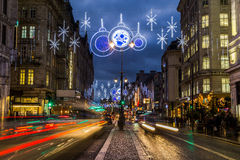 Strand in London at Christmas Stock Images