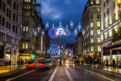 Strand in London at Christmas Royalty Free Stock Image
