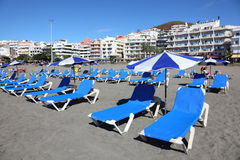 Strand Los-Cristianos, Tenerife Stockfotografie