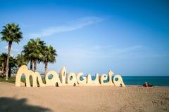 Strand in Màlaga Stockfotografie