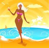 Strand-Mädchen Stockfotos