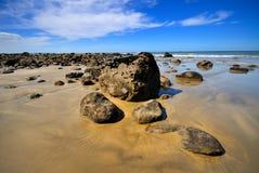 Strand in Maketu, Schacht von viel Lizenzfreies Stockbild
