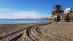 Strand in Malaga stock afbeeldingen