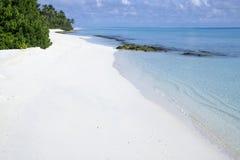 strand maldives Arkivfoto